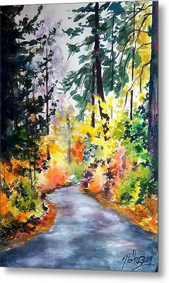 Fall Colors Make Balch Park Metal Print by Therese Fowler-Bailey