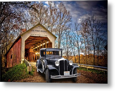 Fall Country Drive Metal Print