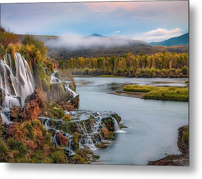 Fall Creek Autumn Metal Print by Leland D Howard