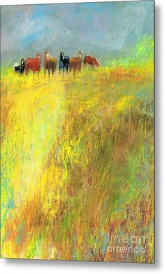 Metal Print featuring the painting Fall Day On The Mesa by Frances Marino