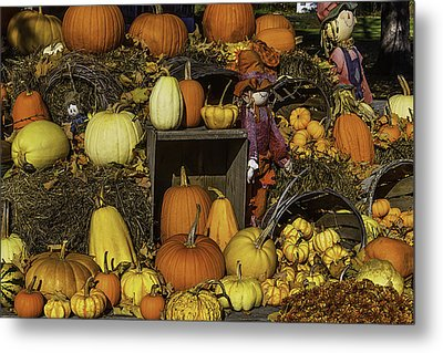 Fall Farm Stand Metal Print by Garry Gay