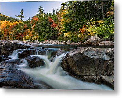 Fall Foliage Along Swift River In White Mountains New Hampshire  Metal Print