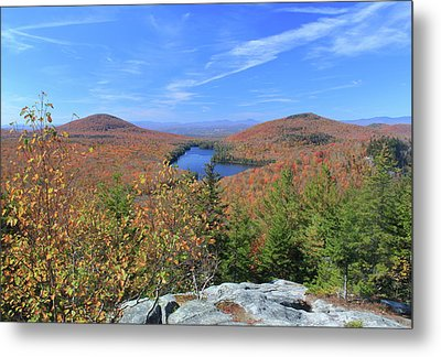 Fall Foliage At Owl's Head Groton State Forest Metal Print by John Burk
