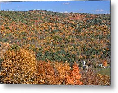 Fall Foliage On The Appalachian Trail Tyringham Cobble Metal Print by John Burk