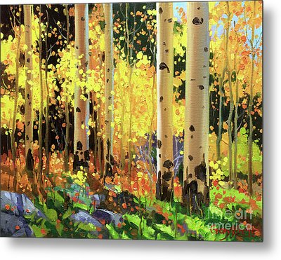 Fall Forest Symphony I Metal Print by Gary Kim