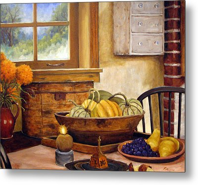 Fall Harvest Metal Print by Richard T Pranke