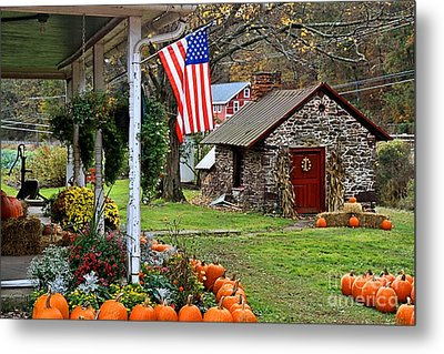 Metal Print featuring the photograph Fall Harvest - Rural America by DJ Florek