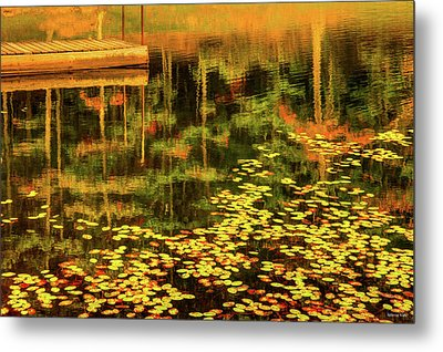 Fall Impressions Metal Print by Rebecca Hiatt