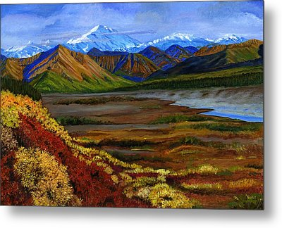 Fall In Alaska Metal Print by Vidyut Singhal