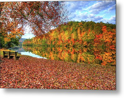 Metal Print featuring the digital art Fall In Murphy, North Carolina by Sharon Batdorf