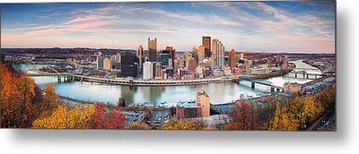 Fall In Pittsburgh  Metal Print by Emmanuel Panagiotakis