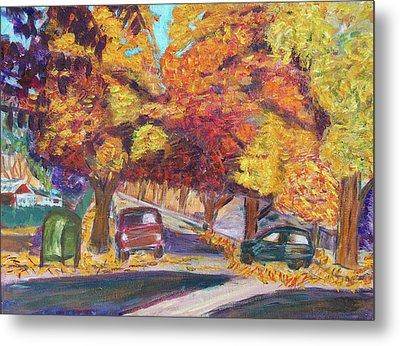 Fall In Santa Clara Metal Print by Carolyn Donnell