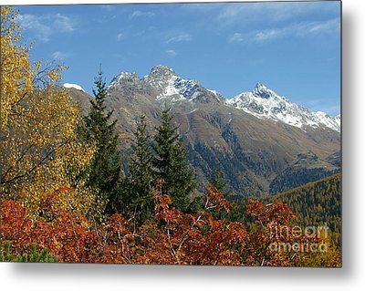 Metal Print featuring the photograph Fall In St. Moritz by Stan and Anne Foster
