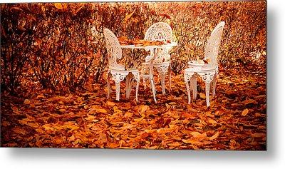 Fall In The Garden Metal Print