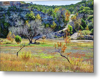 Fall In The Texas Hill Country Metal Print