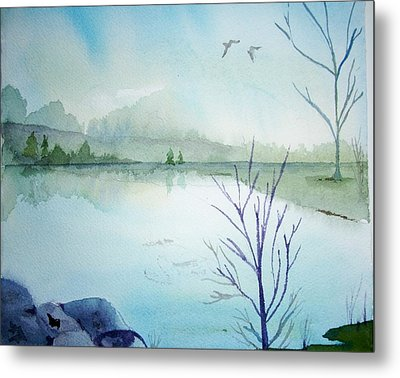 Fall Is In The Air Metal Print by Audrey Bunchkowski