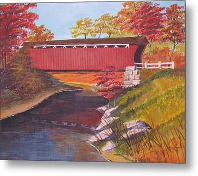 Fall Is In The Air Metal Print by CB Woodling