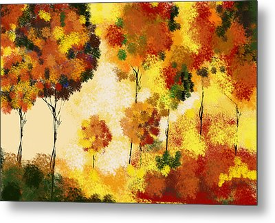 Fall Landscape Metal Print