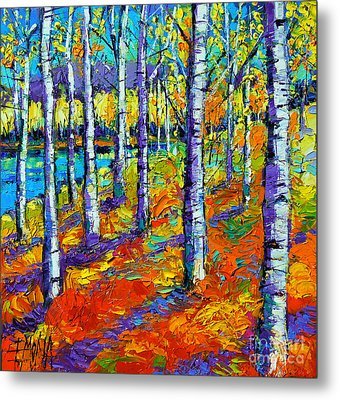 Fall Mood Metal Print by Mona Edulesco