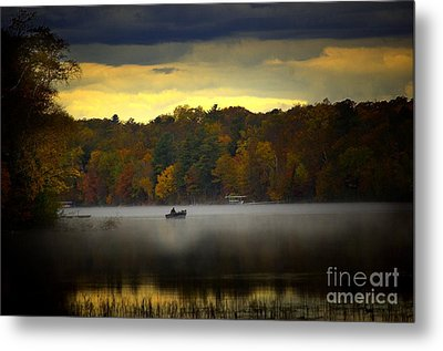 Fall Morn On The Chippiwa Metal Print by The Stone Age