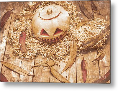Fall Of Halloween Metal Print