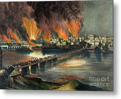 Fall Of Richmond Metal Print by American School