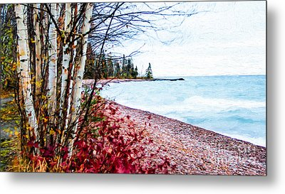 Fall On Lake Superior Metal Print