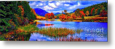 Metal Print featuring the photograph Fall On Long Pond Acadia National Park Maine  by Tom Jelen