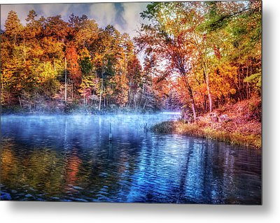Metal Print featuring the photograph Fall On The Lake by Debra and Dave Vanderlaan