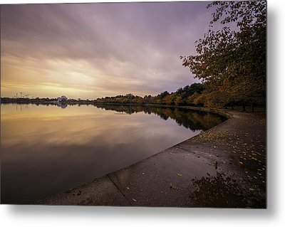 Fall On The Tidal Basin Metal Print by Michael Donahue