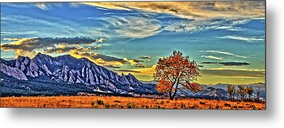 Metal Print featuring the photograph Fall Over The Flatirons by Scott Mahon