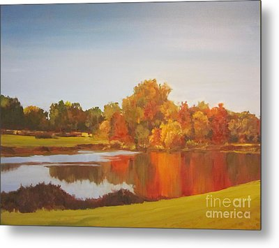 Fall Perfection Metal Print by Elizabeth Carr
