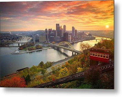 Fall Pittsburgh Skyline  Metal Print by Emmanuel Panagiotakis