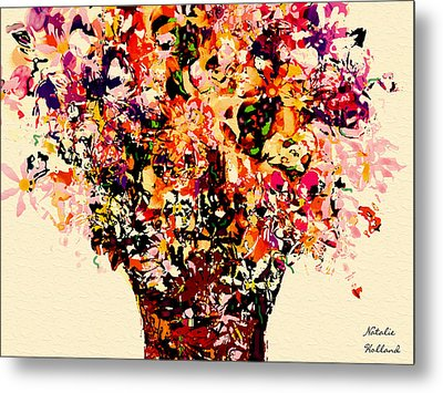Fall Radiance Bouquet Metal Print by Natalie Holland