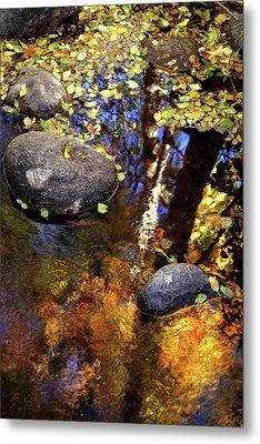 Fall Reflections Ashland Creek Metal Print