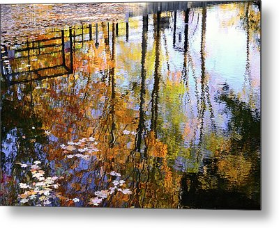 Metal Print featuring the photograph Fall Reflections by Corinne Rhode