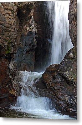 Fall River Road Waterfall Metal Print