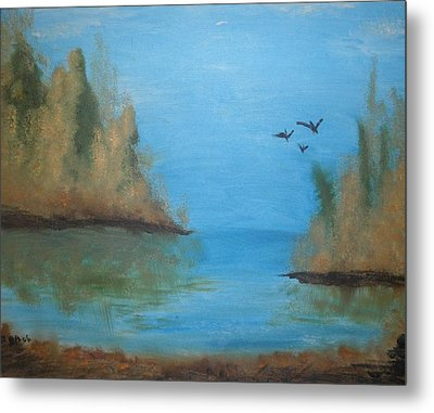 Metal Print featuring the painting Fall Scene by Betty-Anne McDonald