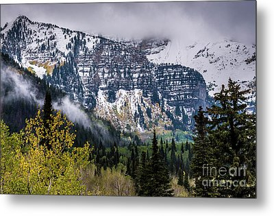 Metal Print featuring the photograph Fall Storm In Wasatch Mountains - Utah by Gary Whitton