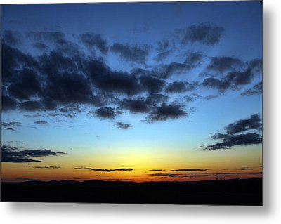 Metal Print featuring the photograph Fall Sunset by Gary Smith