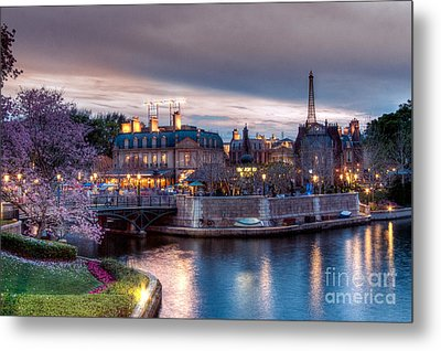 Fall Sunset Of France Metal Print