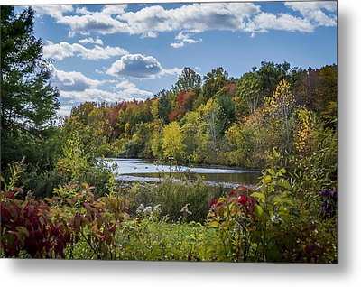 Fall Time On The Lake Metal Print