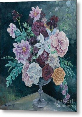 Fall Vase Metal Print by Jana Goode