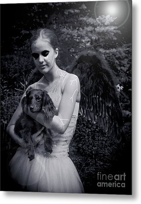 Metal Print featuring the photograph Fallen Angel by Rebecca Margraf