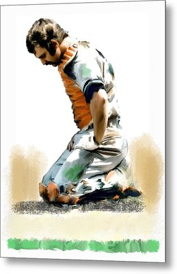 Fallen Captain Ix Thurman Munson Metal Print by Iconic Images Art Gallery David Pucciarelli