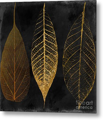 Fallen Gold II Autumn Leaves Metal Print by Mindy Sommers