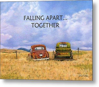 Falling Apart Together Metal Print by Sarah Batalka