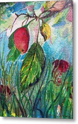 Falling Fruit Metal Print by Mindy Newman