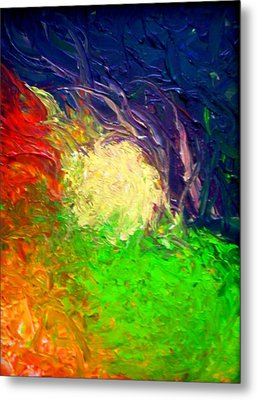 Metal Print featuring the painting Falling In by Laura  Grisham