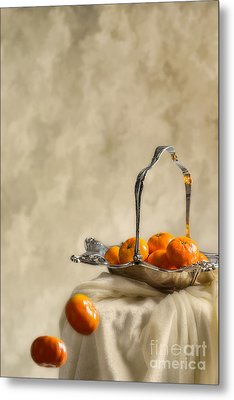 Falling Oranges Metal Print by Amanda Elwell